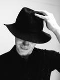 Mężczyzna w starym kapeluszu Obrazy Stock