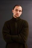 Mężczyzna w starym pulowerze zdjęcie stock