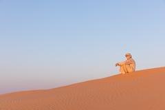 Mężczyzna w tradycyjnej arab sukni zdjęcie royalty free
