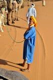 Mężczyzna w tradycyjnej Berber odzieży, wa Zdjęcie Royalty Free