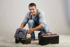 mężczyzna walizka Zdjęcie Stock