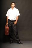mężczyzna walizka Obrazy Royalty Free
