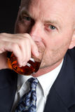 mężczyzna whisky Obrazy Royalty Free