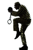 Mężczyzna więźnia przestępca z łańcuszkową piłką Obraz Royalty Free
