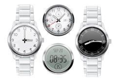 Mężczyzna wristwatch 3d set ilustracji