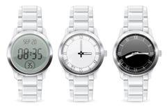 Mężczyzna wristwatch 3d set royalty ilustracja
