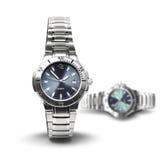 Mężczyzna wristwatches synchronizować pojęcie Zdjęcie Royalty Free
