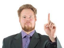 Mężczyzna wskazuje palec up Fotografia Stock