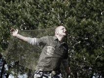 mężczyzna złapana sieć Fotografia Royalty Free