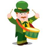 Mężczyzna z bębenem St Patrick s dzień Fotografia Royalty Free