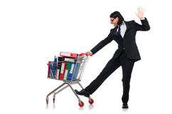 Mężczyzna z biznesowymi falcówkami Zdjęcie Stock
