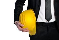 Mężczyzna z budowa kapeluszem Obraz Stock