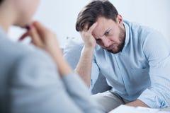 Mężczyzna z depresją zdjęcia royalty free