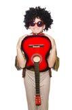 Mężczyzna z gitarą Obraz Royalty Free