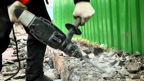 Mężczyzna z Jackhammer zdjęcie wideo