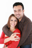 Mężczyzna z jego rękami wokoło jego żony Zdjęcia Royalty Free