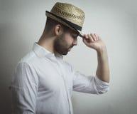 Mężczyzna z kapeluszem Obraz Stock