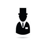 Mężczyzna z kapeluszową sylwetką Zdjęcie Stock