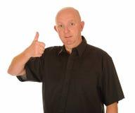 Mężczyzna z kciukiem kciuk Fotografia Stock