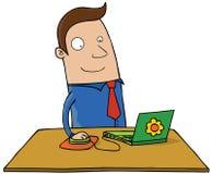Mężczyzna z laptopem royalty ilustracja