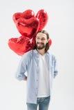 Mężczyzna z lotniczymi balonami Zdjęcie Royalty Free