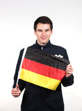 Mężczyzna z niemiec flaga Fotografia Royalty Free