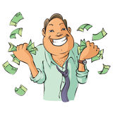 Mężczyzna z pieniądze Zdjęcia Stock