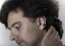 Mężczyzna z piercings zdjęcia stock