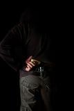 Mężczyzna z pistoletem Zdjęcia Stock