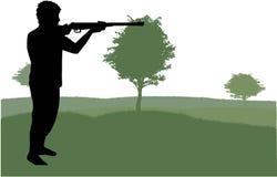 Mężczyzna z pistoletem ilustracji