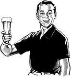 Mężczyzna z piwem Obrazy Stock