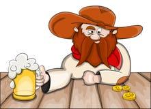 Mężczyzna z piwem Fotografia Stock