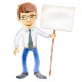 Mężczyzna z plakatem ilustracji