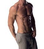 Mężczyzna z stonowaną mięśniową budową ciała zdjęcia royalty free