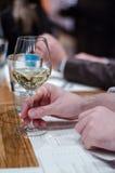 Mężczyzna z szkłem wino Zdjęcie Stock