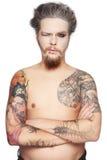 Mężczyzna z tatuażami Obraz Stock