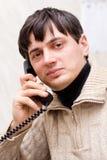 Mężczyzna z telefonem Obraz Stock