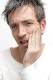 Mężczyzna z toothache Zdjęcie Royalty Free
