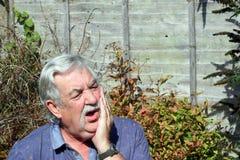 Mężczyzna z toothache. fotografia royalty free