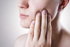 Mężczyzna z toothache Ból w ciele ludzkim Obraz Royalty Free