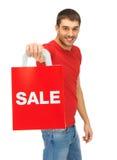 Mężczyzna z torba na zakupy Obrazy Royalty Free