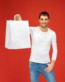 Mężczyzna z torba na zakupy Obrazy Stock