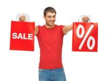 Mężczyzna z torba na zakupy Zdjęcie Stock