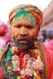 Mężczyzna z twarzą w pełni mażącą z colours Obraz Royalty Free