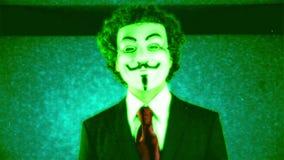 Mężczyzna z v dla wendety maski zdjęcie wideo