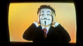 Mężczyzna z v dla wendety maski zbiory wideo