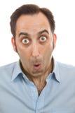 Mężczyzna zdziwiony portret Zdjęcie Stock