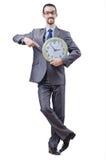 mężczyzna zegarowy biel Zdjęcia Royalty Free
