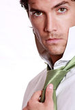 mężczyzna zielony przystojny krawat Zdjęcia Stock