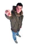 mężczyzna zima Zdjęcia Royalty Free
